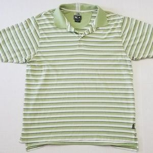 Adidas Clima Lite Large Men Green White Polo Shirt